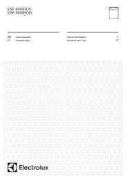 Electrolux Lavastoviglie Real Life® integrabile ESF8585ROX - IT Manuale d'uso in formato PDF (1544 Kb)