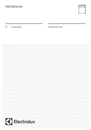 Electrolux Lavastoviglie RSF5203LOW - IT Manuale d'uso in formato PDF (885 Kb)