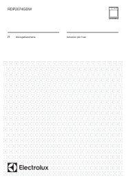 Electrolux RDP2074GDW - IT Manuale d'uso in formato PDF (636 Kb)