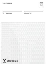 Electrolux Lavatrice SteamSystem EWF1286ODW - IT Manuale d'uso in formato PDF (797 Kb)