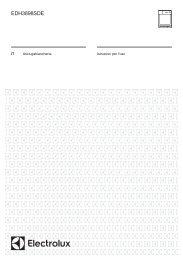 Electrolux EDH3898SDE - IT Manuale d'uso in formato PDF (2246 Kb)