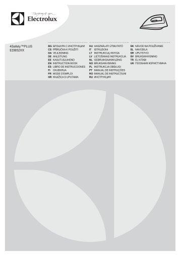Electrolux Ferro da stiro a vapore EDB5236GR - IT Manuale d'uso in formato PDF (4910 Kb)