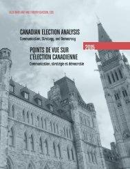 Canadian Election Analysis Points de vue sur l'élection canadienne 2015