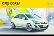 Opel Corsa MY 13.5 - Corsa MY 13.5 manuale