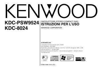 Kenwood KDC-PSW9524 - Manuale d'Istruzioni KDC-PSW9524