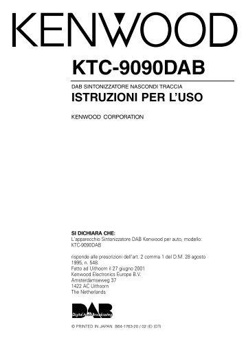 Kenwood KTC-9090DAB - Manuale d'Istruzioni KTC-9090DAB