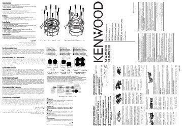 Kenwood KFC-W2510 - Manuale d'Istruzioni KFC-W2510