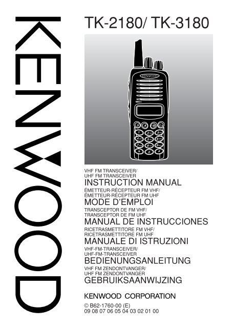 Kenwood TK-3180E - Manuale d'istruzioni TK-3180E