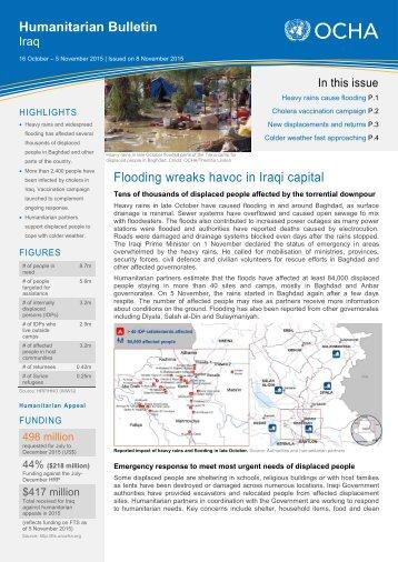 Humanitarian Bulletin Flooding wreaks havoc in Iraqi capital