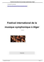 Festival international de la musique symphonique à Alger