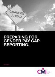 PREPARING FOR GENDER PAY GAP REPORTING