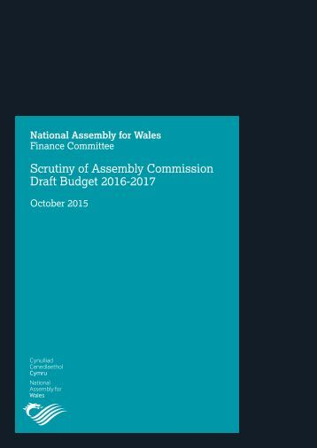Scrutiny of Assembly Commission Draft Budget 2016-2017
