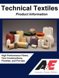 A&E Technical Textile Product Information