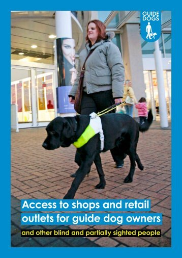 Access to shops and retail outlets for guide dog owners