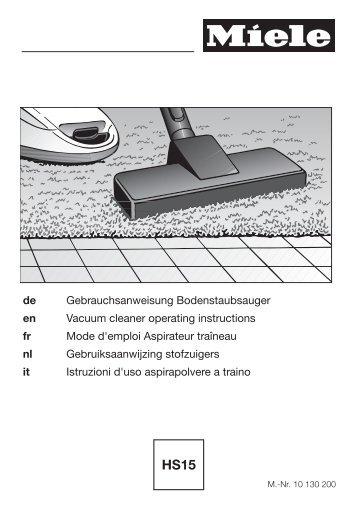 Miele Complete C1 Tango EcoLine Plus - SEAJ1 - Istruzioni d'uso