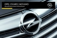 Opel Movano Infotainment Manual MY 16.0 - Movano Infotainment Manual MY 16.0 manuale
