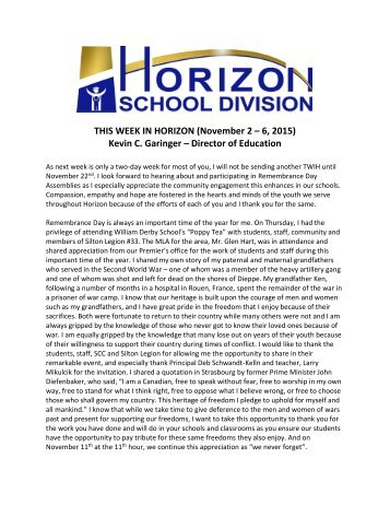 This Week in Horizon - November 9, 2015