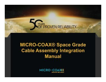 Cable Assembly Integration Manual