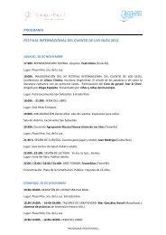 PROGRAMA FESTIVAL INTERNACIONAL DEL CUENTO DE LOS SILOS 2015