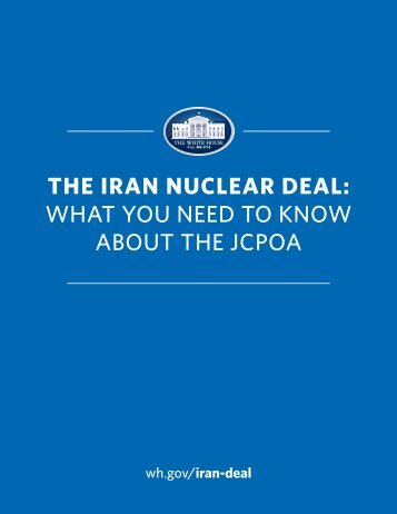 WHAT YOU NEED TO KNOW ABOUT THE JCPOA