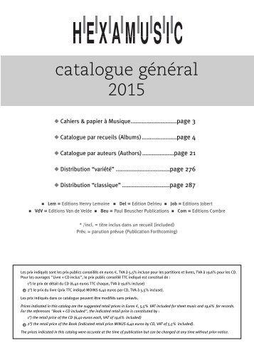 catalogue général 2015