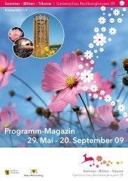 29. Mai - 20. September 09 Programm-Magazin - Gemeinde ...