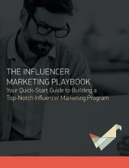 THE INFLUENCER MARKETING PLAYBOOK