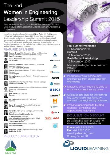 The 2nd Women in Engineering Leadership Summit 2015