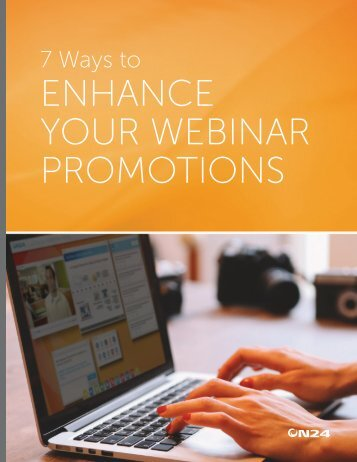ENHANCE YOUR WEBINAR PROMOTIONS