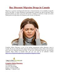 Buy Discount Migraine Drugs in Canada