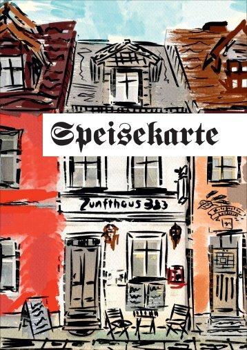 Zunfthaus 383 -Speisekarte