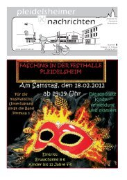 2 Pleidelsheimer Nachrichten - Gemeinde Pleidelsheim