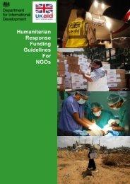 Humanitarian Response Funding Guidelines For NGOs