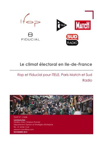 Le climat électoral en Ile-de-France