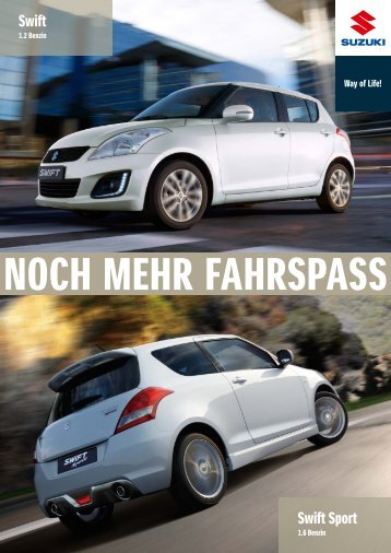 SWIFT und SWIFT SPORT Modellprospekt