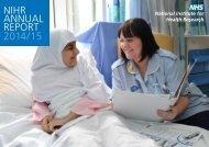NIHR ANNUAL REPORT 2014/15