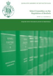 Select Committee on the Regulation of Brothels