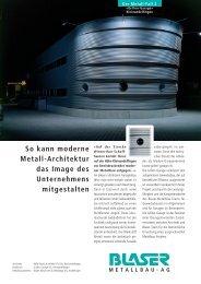So kann moderne Metall-Architektur das Image des Unternehmens ...