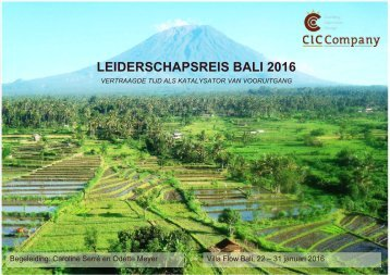 LEIDERSCHAPSREIS BALI 2016