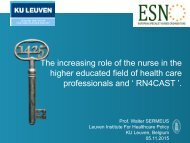 higher educated field of health care professionals and ' RN4CAST '