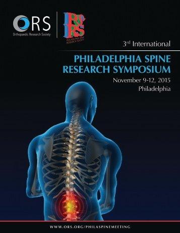 PHILADELPHIA SPINE RESEARCH SYMPOSIUM