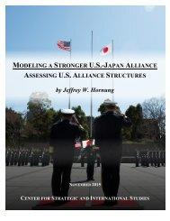 MODELING STRONGER U.S.-JAPAN ALLIANCE ASSESSING U.S ALLIANCE STRUCTURES