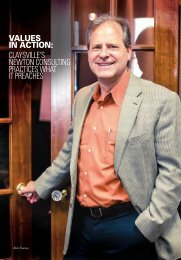VALUES IN ACTION CLAYSVILLE'S NEWTON CONSULTING PRACTICES WHAT IT PREACHES