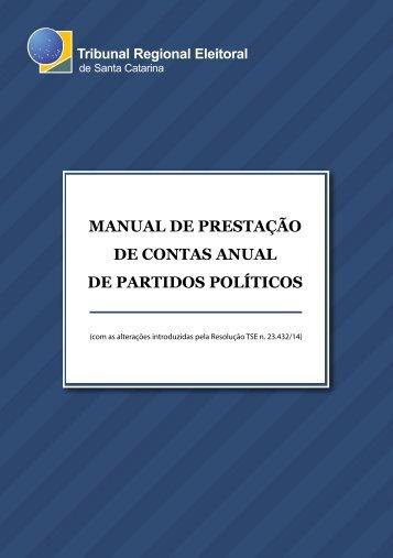 MANUAL DE PRESTAÇÃO DE CONTAS ANUAL DE PARTIDOS POLÍTICOS