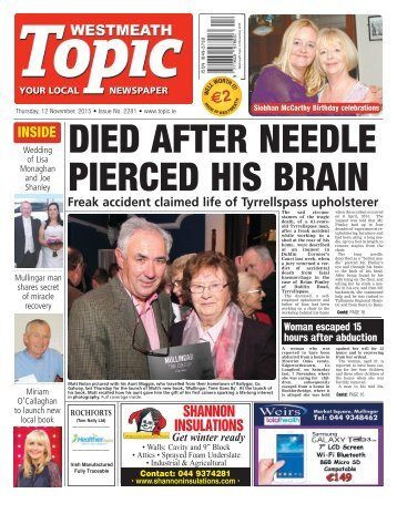 Westmeath Topic- 12 November 2015