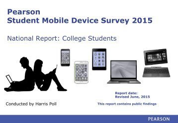 Pearson Student Mobile Device Survey 2015