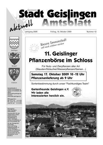 und Altpapiersammlung Samstag, 17. Oktober um ... - Stadt Geislingen