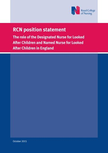 RCN position statement