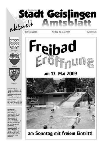 Anzeigen- werbung - Stadt Geislingen