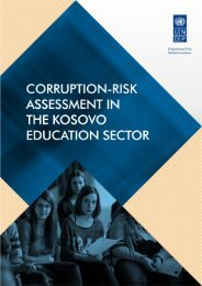Corruption-Risk Assessment in the Kosovo Education Sector